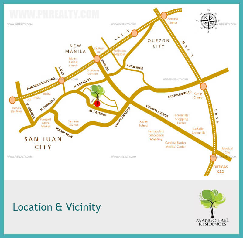 mango tree residences location and vicinity